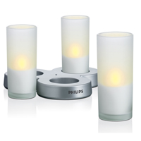 Philips Imageo LED Candle 3set EU, White